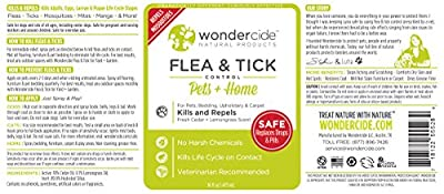 Natural & Organic Flea, Tick & Mosquito Control Spray for Pets + Home | **16 oz Fresh Cedar + Lemongrass Scent** | Kills Full Lifecycle (Adults & Eggs) of Fleas, Ticks, Mosquitoes and 100s of Other Pests - Just Spray & Play! | No Chemical Pesticides, Made