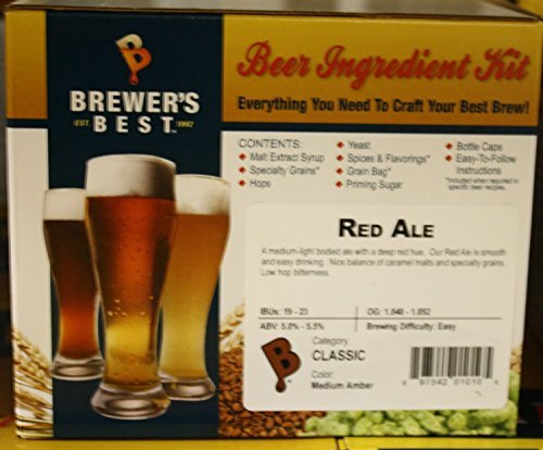 Brewer's Best Red Ale Homebrew Beer Ingredient Kit