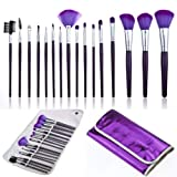 16-PCS-Makeup-Cosmetic-Eyeshadow-Powder-Brush-Set-KitCase-Purple-Professional