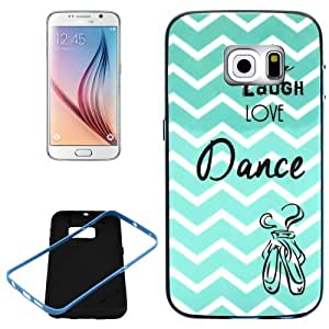 Live Laugh Love Dance Pattern PC Frame Synthetic Rubber Back Shell Combination Case Cover Carcasa Para Samsung Galaxy S6 Edge