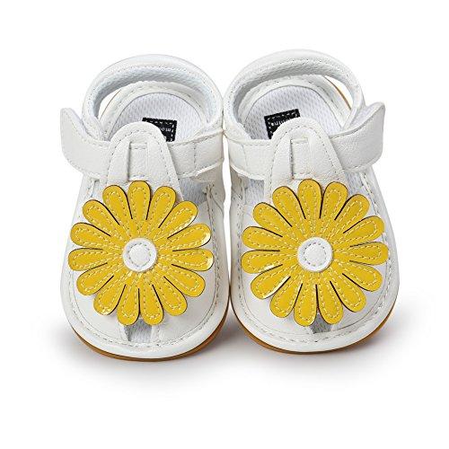 Sandalias De Bebe,BOBORA Prewalker Zapatos Primeros Pasos Para Bebe Sandalias De Flor De Sol Zapatos De Bebe Suelas De Goma Sandalias De Bebe amarillo