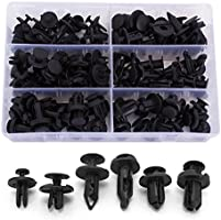 Ginsco 102pcs 6.3mm 8mm 9mm 10mm Nylon Bumper Push Fasteners Rivet Clips Expansion Screws Replacement Kit
