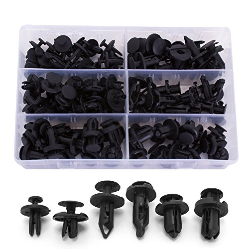 (Ginsco 102pcs 6.3mm 8mm 9mm 10mm Nylon Bumper Push Fasteners Rivet Clips Expansion Screws Replacement Kit)