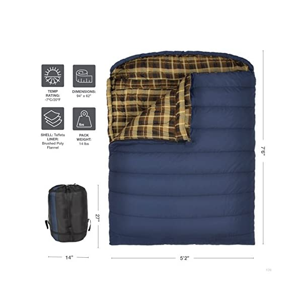 TETON Sports Mammoth Queen-Size Double Sleeping Bag; Warm and Comfortable for Family Camping 5