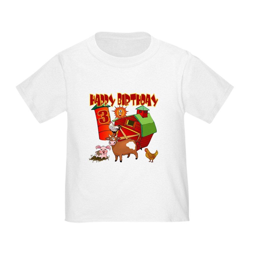 Amazon.com: CafePress – Barnyard 3rd Cumpleaños bebé T-Shirt ...