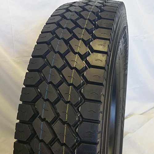 (2-TIRES) 11R22.5 ROAD WARRIOR # 607 NEW DRIVE TIRE OPEN SHOULDER 16 PLY -1 YEAR WARRANTY