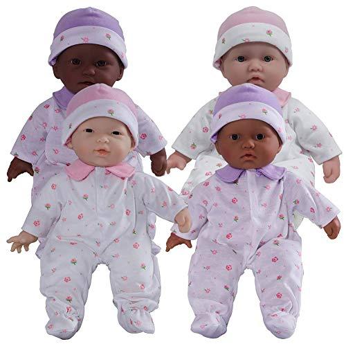 """JC Toys 11"""" Soft Body Baby Dolls - Set of 4"""