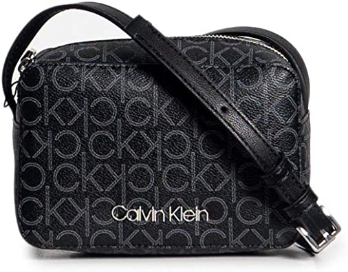 Calvin Klein CK Mono Camera Bag Black Mono Mix