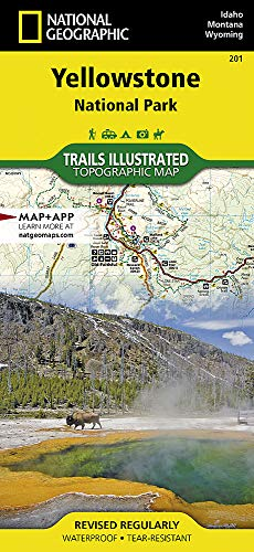 Free Topo Maps - Yellowstone National Park (National Geographic Trails Illustrated Map)