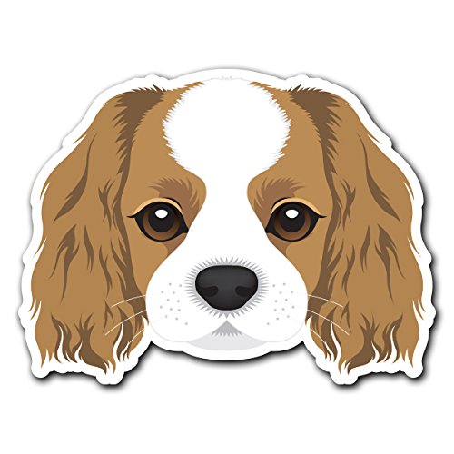 - Cavalier King Charles Spaniel - [CUSTOMI] Dog Breed Decal Sticker for Car Truck Macbook Laptop Air Pro Vinyl