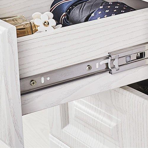 Saim Metal Ball Bearing 3 Sections Drawer Slide Rail Track 200mm Long Silver Tone 2PCs KS32