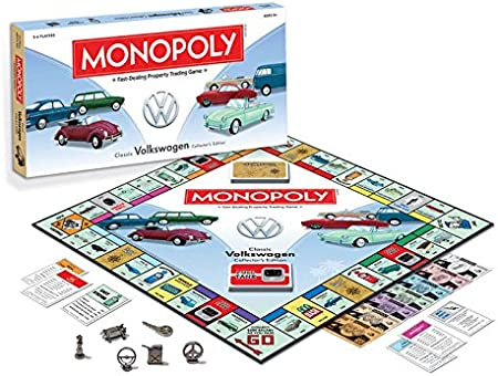 VW Volkswagen Monopoly Classic VW Collector s Edition – Juego de mesa Nueva Familia de sellado de fábrica regalo divertido Kids Adulto Idea: Amazon.es: Coche y moto