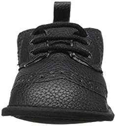 Little Me Pebbled WingTip Shoe Dress Shoe (Infant), Black, 0-6 Months M US Infant