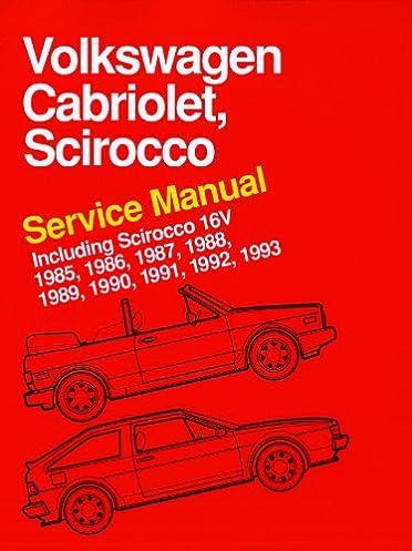volkswagen cabriolet scirocco service manual 1985 1986 1987 rh amazon com 1993 VW Cabriolet 1994 VW Cabriolet