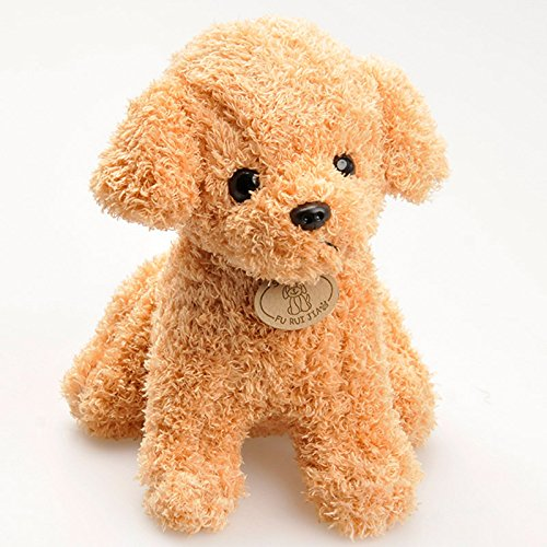 gogiil 20CM Cute Simulation Puppy Little Dolls Curly Teddy Dogs Stuffed Pet Soft Anime Toys For Children Decor Collection (Curly Teddy)