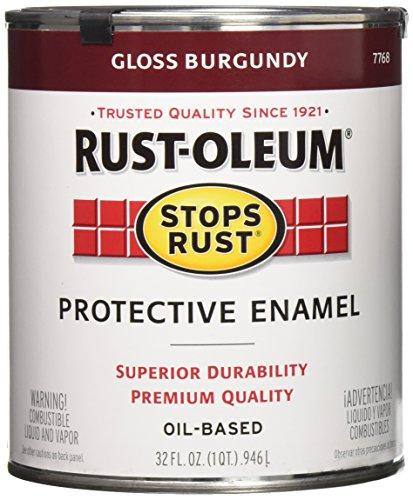 Gloss Oleum Rust (Rust-Oleum 7768502 Stops Rust, 32 oz. Quart, Gloss Burgundy)