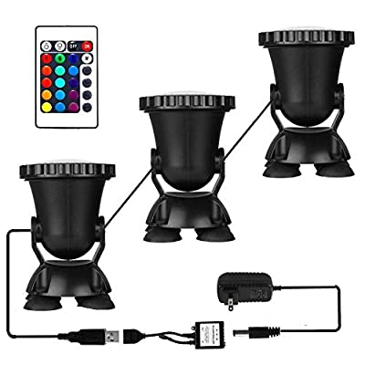 AomeTech Remote Control 36 LED Waterproof Submersible Lamp color Decoration light for Fish tank Swimming Pool Garden Pond