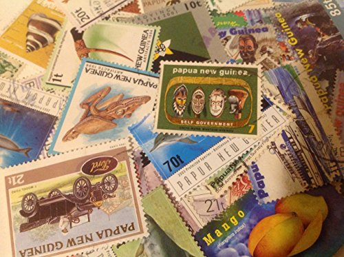 Papua New Guinea 25 Different Postage Stamps
