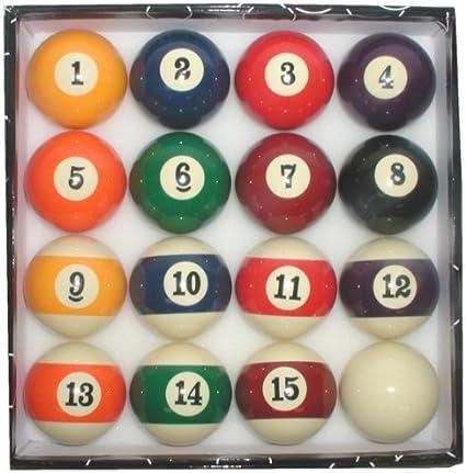 Deluxe Big número pantalla – juego de bolas de billar 16 bolas ...