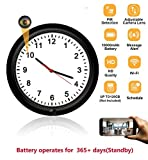 WiFi Spy Hidden Camera Wireless Wall Clock with Adjustable Camera Lens,Motion Detection,365 Days Standby Time, Indoor Nanny Security Camera, Remote Live View Support iPhone/Android/iPad/PC