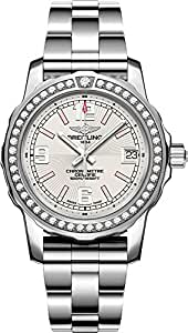 Breitling Colt Lady Silver Dial with Diamond Bezel Women's Watch A7738753/G765-175A