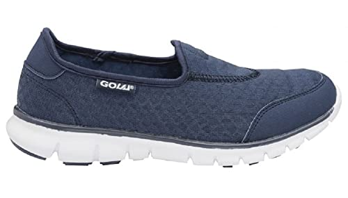 Zapatillas para caminar para mujer, sin cordoneras, color Azul, talla 39: Amazon.es: Zapatos y complementos
