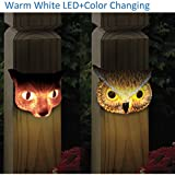 Kanstar 2PK 6' SMD-LED Animal Solar Powered Color Changing Deck Night Light Outdoor Waterproof Landscape Garape Garden Yard Fence White