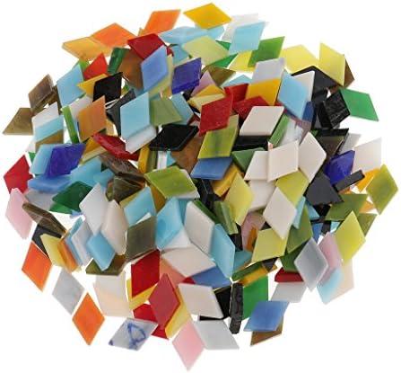 CUTICATE 約300本 モザイクタイル ガラスモザイクタイル ガラス製品 DIY 手作り 手工芸品 芸術 全2選択 - 菱