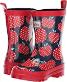 Hatley Girls Printed Rain Boot, Polka dot Apples, 11 M US Little Kid