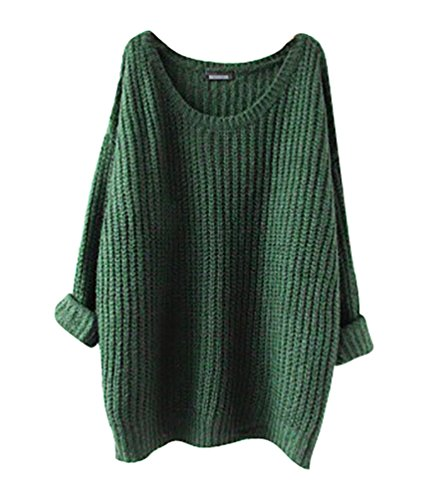 Longues Blouse YouPue Chandail Pull Pull Casual Col Casual en Tops Automne Section Manches Femmes Sweater Vert Rond Mince Hiver Vrac Tricot qTYqg