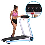 Asatr Sports & Fitness Folding Electric Treadmill Walking/Running Machine (US Stock) (Blue)