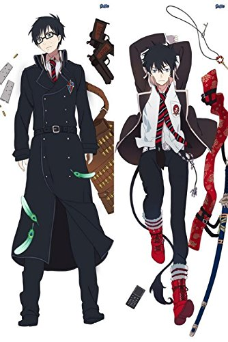 """Raspberry Link(Tm) Japan Anime Blue Exorcist Rin Okumura Hugging Pillow Dakimakura Case Double-Sided 59.06""""X19.69"""""""