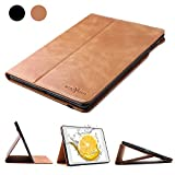 iPad Mini 5 2019/Mini 1 2 3 4 Leather Case - Boriyuan Genuine Leather Soft TPU Back Smart Cover Protective Case with Auto Sleep/Wake Funciton (Brown)