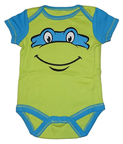 Teenage Mutant Ninja Turtle Baby Boys & Girls Bodysuit Dress Up Outfit (12 Months, Blue) -