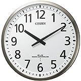 リズム時計工業 CITIZEN シチズン 電波壁掛け時計 スリーウェイブM839 4MY839-019 高感度 オフィス 学校 銀色ヘアライン仕上 白 アナログ