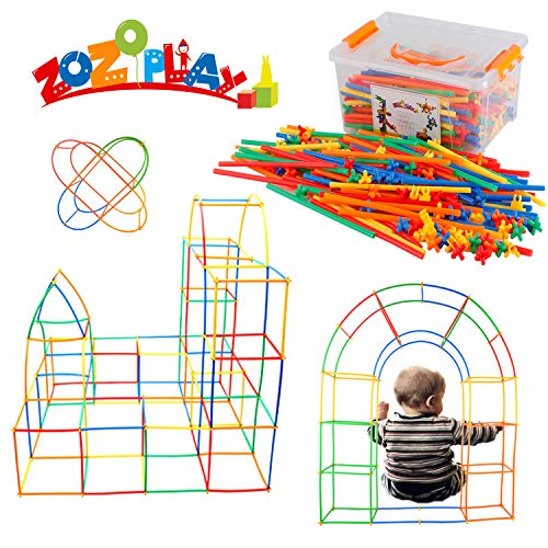 (ZoZoplay Straw Constructor STEM Building Toys 430 Piece Straws and Connectors Building Sets Colorful Motor Skills Interlocking Plastic Engineering Toys Best Educational Toys Gift for Boys &)