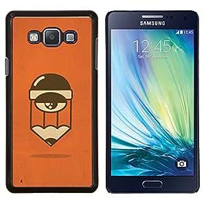 TECHCASE---Cubierta de la caja de protección para la piel dura ** Samsung Galaxy A7 ( A7000 ) ** --Cansado Sleepy personaje de dibujos animados de Orange