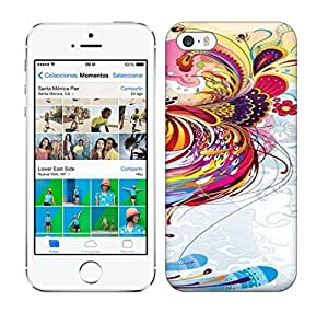 Best Power(Tm) HD Colorful Painted Watercolor The Order Of The Phoenix Tail Clouds Butterfly Hard Phone Case For Iphone 5/5S wangjiang maoyi
