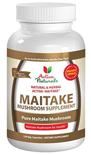 Activa Naturals Maitake Mushroom Supplement - 120 Veg. Capsules with Grifola Frondosa Mushrooms Extract Powder to Support Vitamins and Supplements for Immune System and Blood Sugar Health