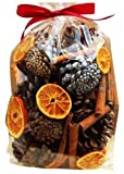 Christmas Fragrance Scented Pot Pourri Gift Bag (appx 500g): oranges, leaves, pine cones cinnamon sticks by Avena Christmas