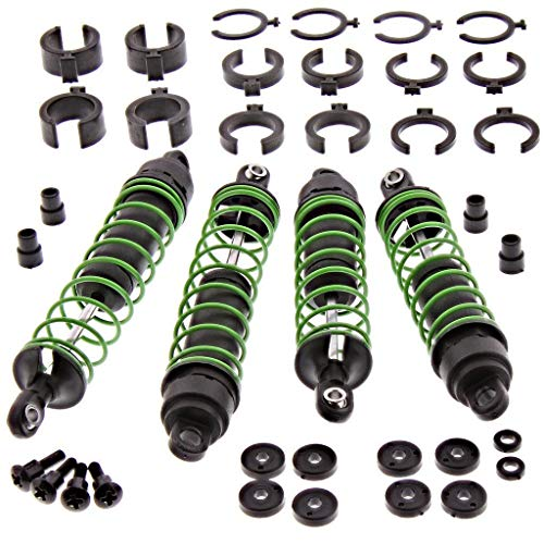 (TRAXXAS GREEN SKULLY FRONT AND REAR SHOCKS & Oil, 3758A 3757A 3765A 3766A 1664 2656 3769 3767 3768 2362 1666 1942 3642)