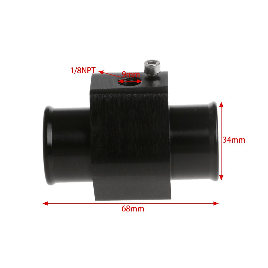Suweqi 40mm Water Temp Temperature Joint Pipe Sensor Gauge Radiator Hose Adapter