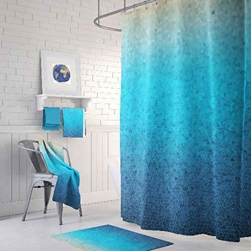 Sea Glass Mosaic Shower Curtain