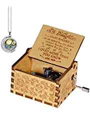 My Wife Music Box -to My congeous Wife Music Box -Pure Hand-Classical to My congeous Wife Music Box Creative Wooden Crafts Best Gifts- Give a Gift to You is My Sunshine Necklace