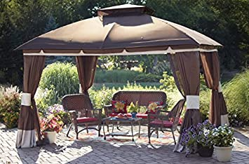 Sunjoy Replacement Canopy Set for 10x12ft Healdsburg Gazebo & Amazon.com: Sunjoy Replacement Canopy Set for 10x12ft Healdsburg ...