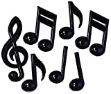 Beistle Party Decoration Black Plastic Musical Notes (7 Ct)
