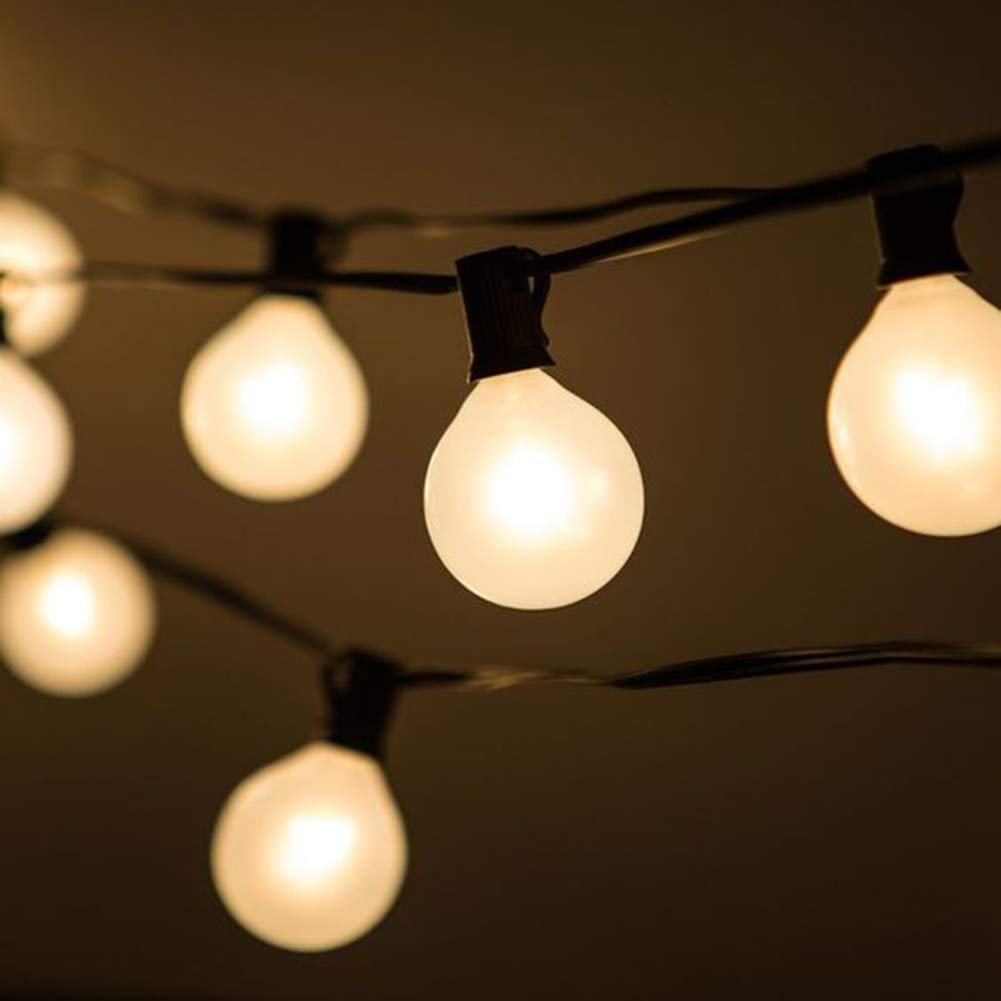 Globe Frosted 25Ft String Lights With G40 25 Frosted
