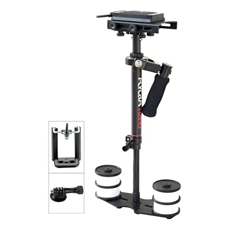 Flycam Nano Handheld Camera Stabilizer with Quick Release Plate for DSLR Mini/DV Cameras (Black) Video Camera Stabilizers & Supports at amazon