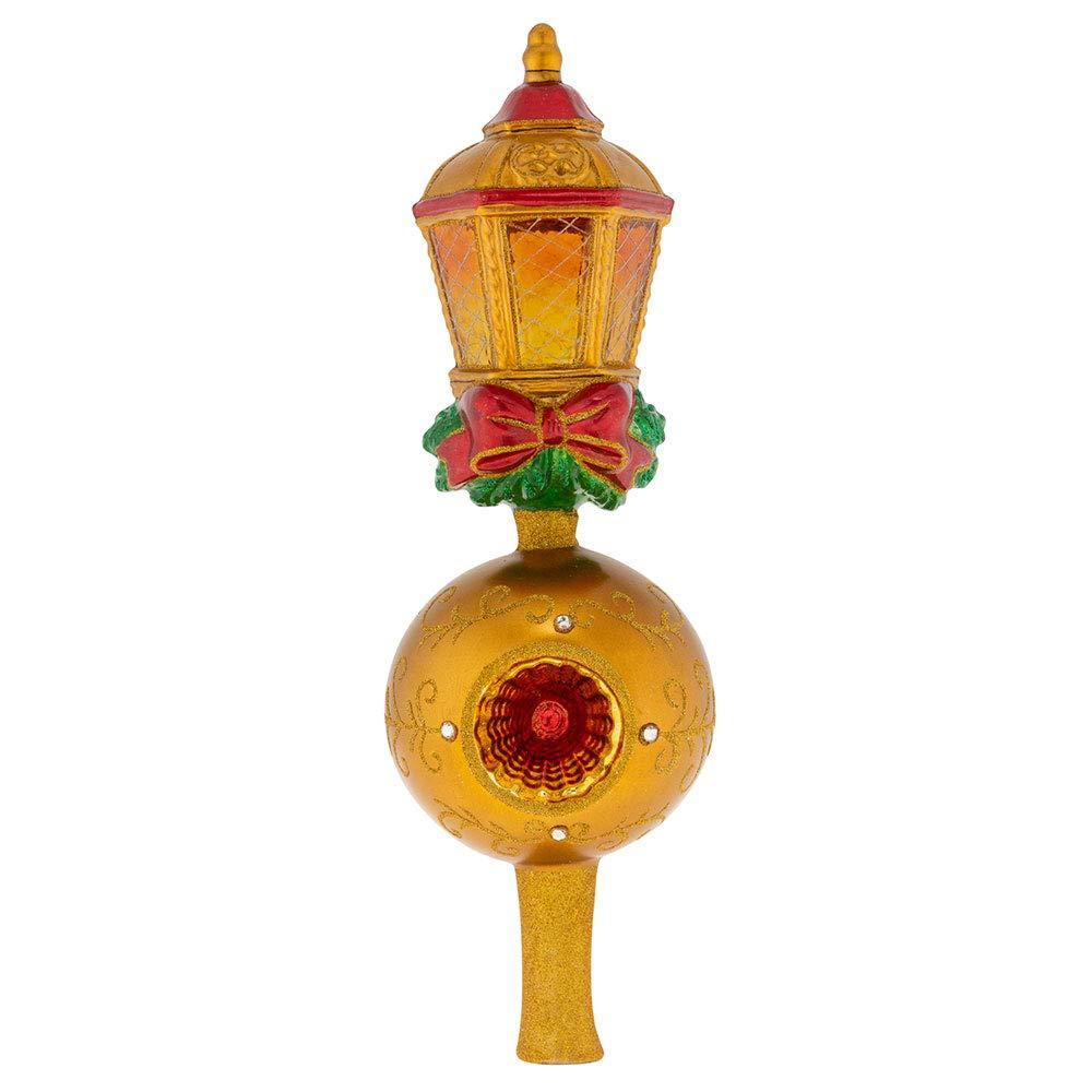 Christopher Radko Golden Lantern Finial Christmas Ornament, Gold, red, Green