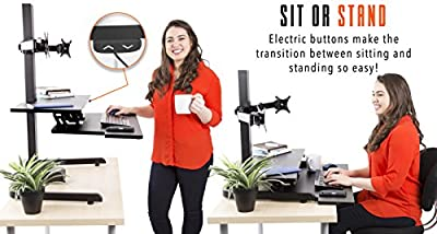 Tectonic Electric Standing Desk by Stand Steady | Easy Sit to Stand w/The Push of a Button!